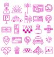 Taxi icon Thin line icon design vector image