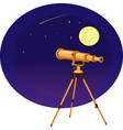 a telescope on the vector image vector image