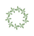 a wreath oak green leaves summer wreath of vector image