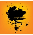 Abstract composition Artistic paint banner on vector image