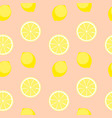 abstract lemon seamless pattern background vector image