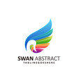 abstract swan template vector image