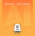 artificial intelligence and modern robot vector image vector image