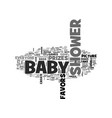 baby shower prizes and favors text word cloud vector image vector image