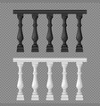 banister or fencing sections set vector image vector image