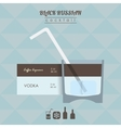 Black Russian cocktail flat style isometric vector image vector image