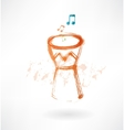 bongo drum grunge icon vector image