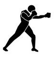 boxing sign icon vector image vector image