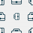 Briefcase icon sign Seamless pattern with vector image vector image