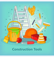 building process concept tools cartoon style vector image