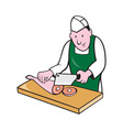 Butcher Chopping Meat Cartoon vector image vector image