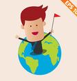 Cartoon Businessman on earth - - EPS10 vector image vector image