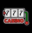 casino poker logo template lucky numebr 7