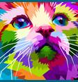 close up face beautiful cat vector image vector image