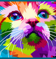 close up of face beautiful cat vector image vector image