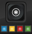 cogwheel icon symbol Set of five colorful stylish vector image