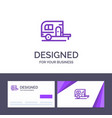 creative business card and logo template caravan vector image vector image