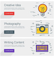 Creative Idea Photography Writing Content Line Art vector image
