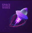 design with space ship vector image vector image