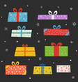 Different color gift boxes set vector image vector image
