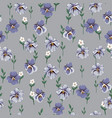 drawing of seamless pattern with viola flowers vector image vector image