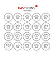 easy icons 33b cloth size vector image