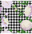 floral seamless pattern with white peonies vector image