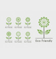 flower ecological logos set vector image