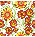 flowers seamless pattern green vector image vector image