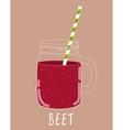 Fresh Beet Smoothie Healthy Food vector image vector image