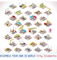 Game Set 02 Building Isometric vector image vector image