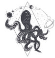 geometric an octopus and vector image vector image