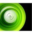 Green eco swirl abstract design template vector image