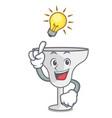 have an idea margarita glass mascot cartoon vector image