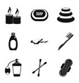 hygienic thing icons set simple style vector image vector image