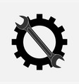 icon keys and gear symbol service setting vector image vector image