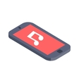 Isometric phone flat design vector image