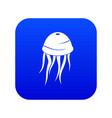 jellyfish icon digital blue vector image vector image