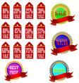 Label Information Badge Shop Sticker Advertising D vector image vector image