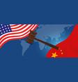 law legal case trade tension or trade war between vector image vector image