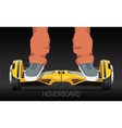 legs on wheel segway electric hover board vector image