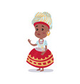little girl wearing national costume of brazil vector image vector image