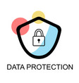 lock icons for data protection on white background vector image