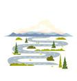 long winding road landscape vector image