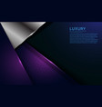 luxurious purple and silver overlap layer vector image