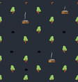 night village pattern seamless shed in woods vector image vector image