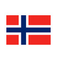 norway flag pixel art cartoon retro game style vector image