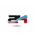 Number 24 swoosh design template logo vector image vector image