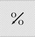 percent down arrow icon isolated vector image