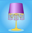 pop art background interior object table lamp vector image vector image